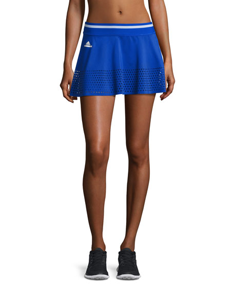 adidas by Stella McCartney Perforated-Trim Tennis Skirt,