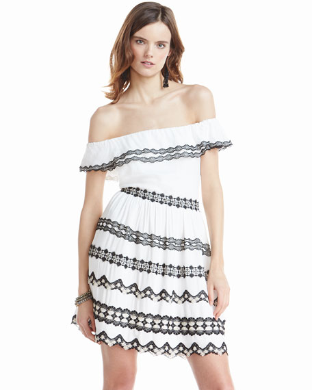 Rozzi Off-the-Shoulder Dress, Multi