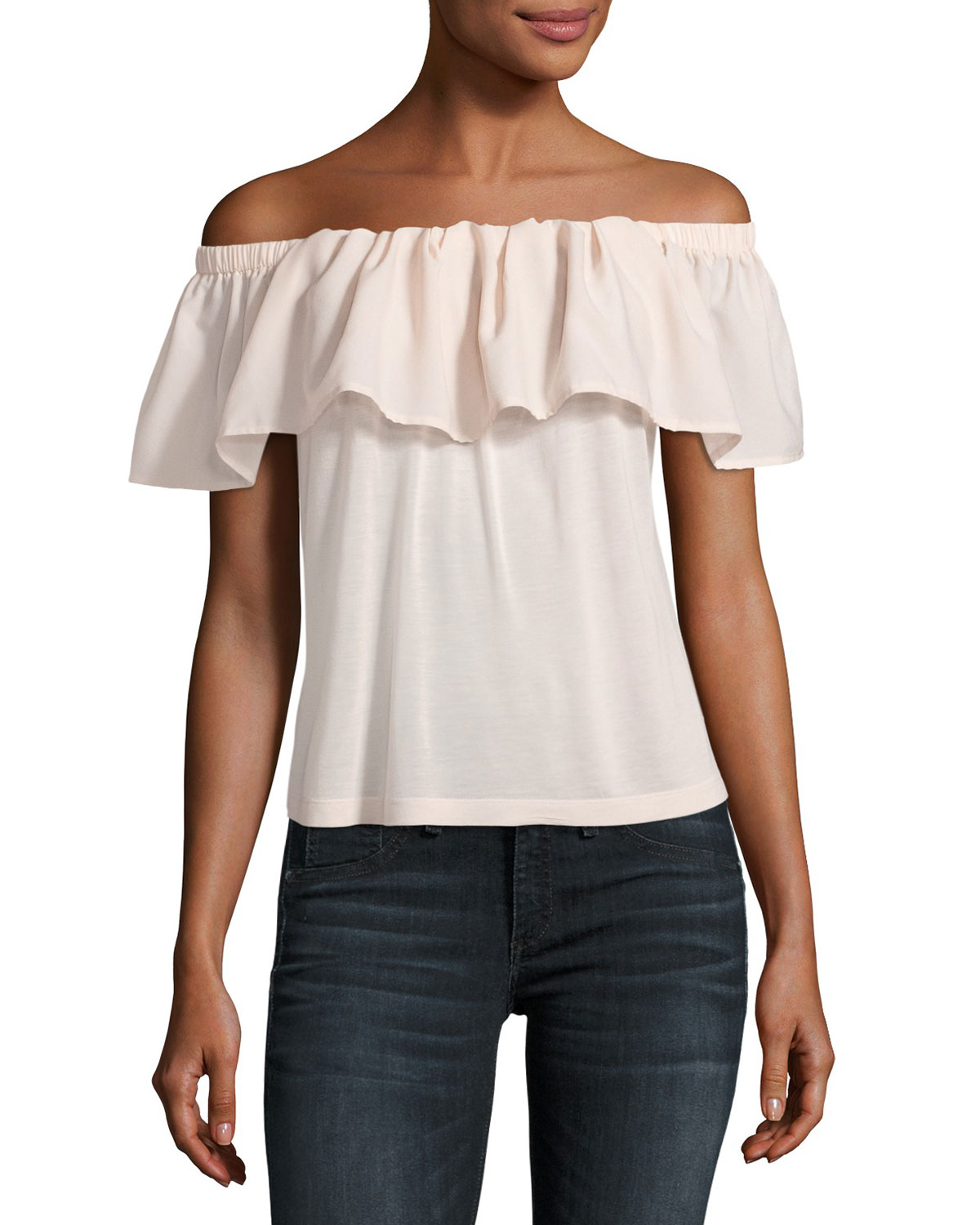 French Connection Polly Plains Off-the-Shoulder Blouse be2a24d2c