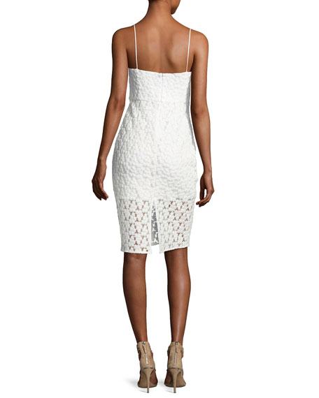 Scarlett Floral Embroidered Cocktail Dress