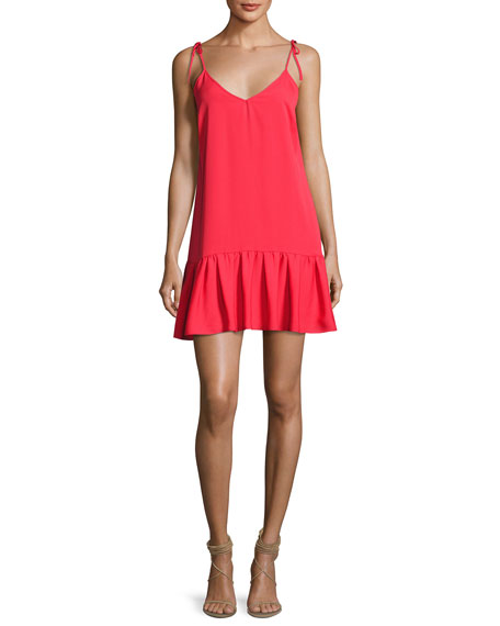 Amanda Uprichard Odessa Sleeveless V-Neck Shift Dress, Pink