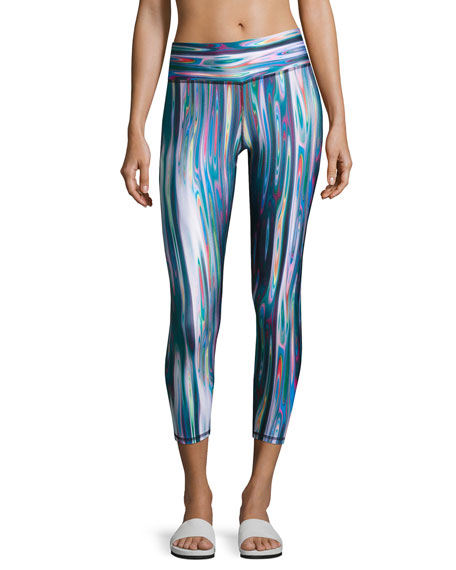Terez Liquid Metal Tall Band Performance Capri Leggings