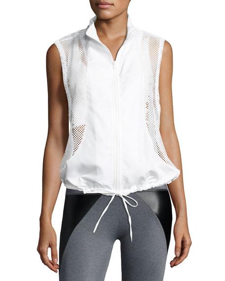 Emmet Sleeveless Mesh Performance Vest, White