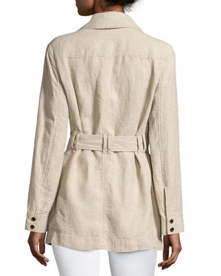 Linen Utility Jacket, Beige
