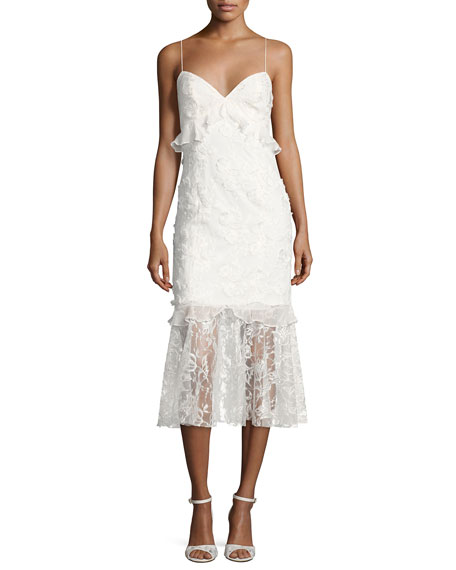 Sachin & Babi Milan Sleeveless Lace Fit-and-Flare Cocktail