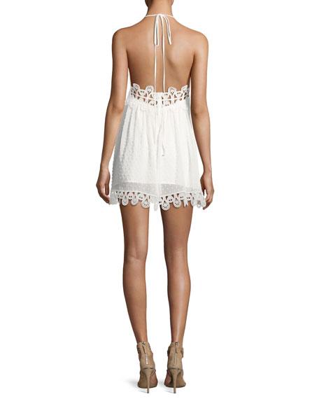 Mimi Swiss Dot Mini Dress, White