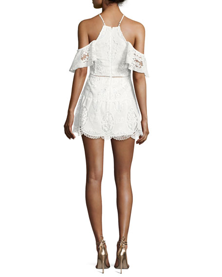 Ellie white lace mini dress.