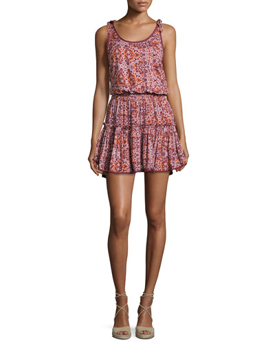 Calista Sleeveless Mini Dress, Multipattern