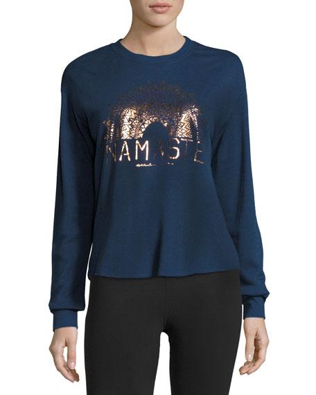 Spiritual Gangster Namaste Sun Rays Sweatshirt, Indigo