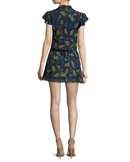 Poetic Garden Floral-Print Mini Dress