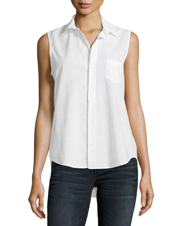1e90bea73aa159 Frank   Eileen Fiona Sleeveless Italian Twill Shirt