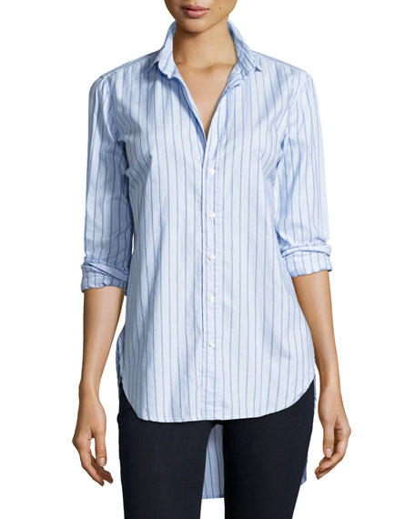 Frank & Eileen Grayson Long-Sleeve Striped Italian Twill,