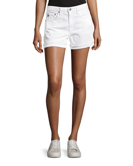 AG Adriano Goldschmied Hailey Mid-Rise Denim Jeans Shorts,