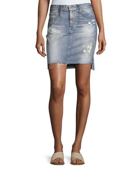 AG Erin Mid-Rise Denim Pencil Skirt, Indigo