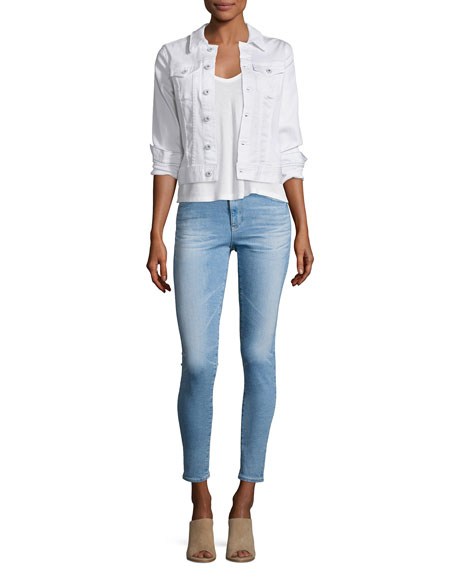 Farrah Skinny Ankle Denim Jeans, Indigo