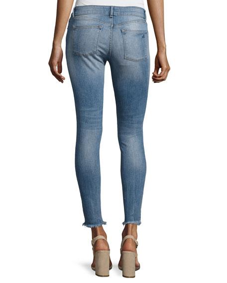Emma Power Flash Raw-Hen Legging Jeans, Indigo