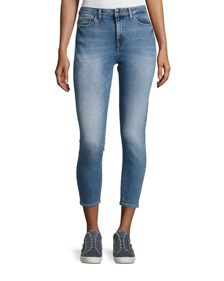 DL1961 Premium Denim Chrissy Overboard High-Rise Denim Jeans,
