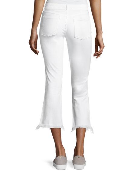 dl1961 premium denim lara instasculpt cropped flare pintuck jeans white. Black Bedroom Furniture Sets. Home Design Ideas