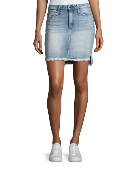 Joe's Jeans High-Low Hem Denim Jean Skirt, Indigo