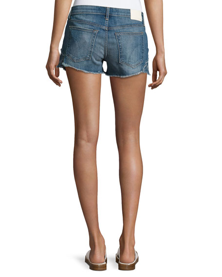 Cutoff Denim Jean Shorts, Indigo