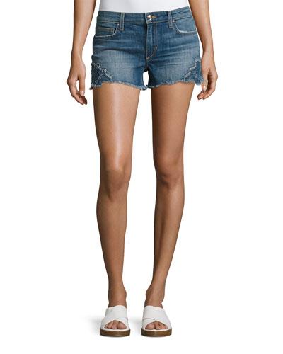 Women's Denim Shorts : Cut Off & Cuffed Denim Shorts at Neiman Marcus