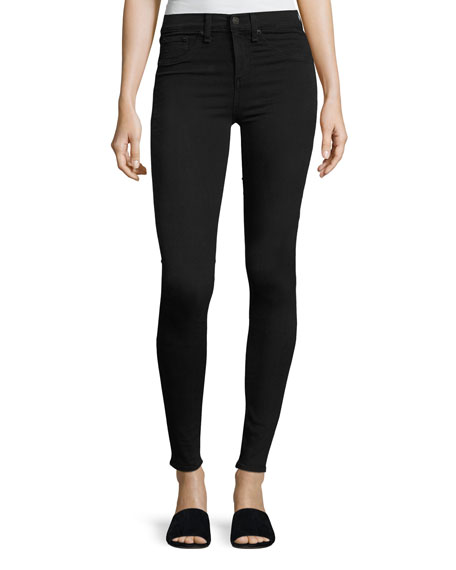 10 Inch Skinny Jeans, Washed Black