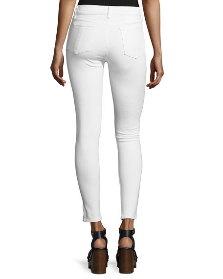 rag & bone/JEAN 10 Inch Capri Jeans with Slit, White