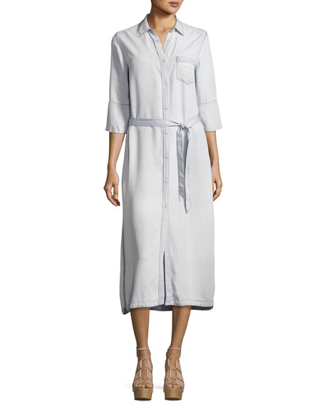 DL1961 Premium Denim Fire Island Maxi Dress, White