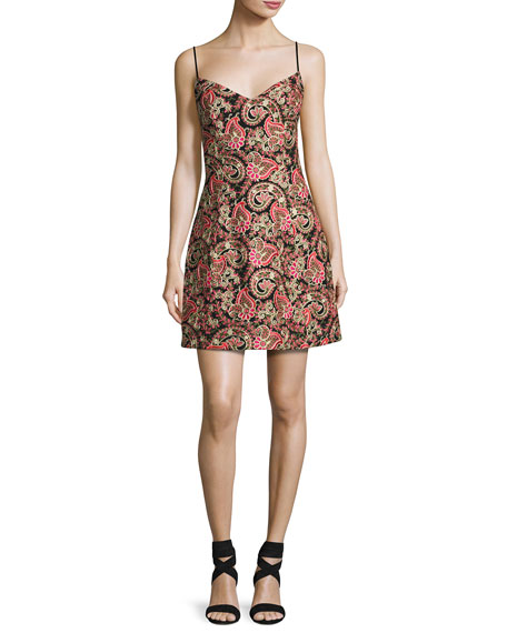 Mestiza New York Laura Sleeveless Structured Paisley Cocktail