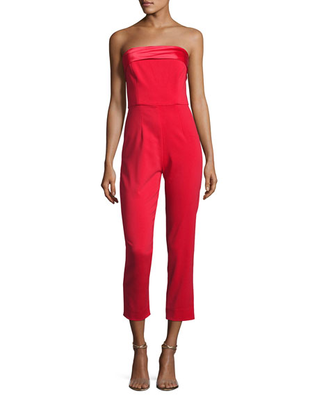 Mestiza New York Elizabeth Strapless Tuxedo Jumpsuit, Bright