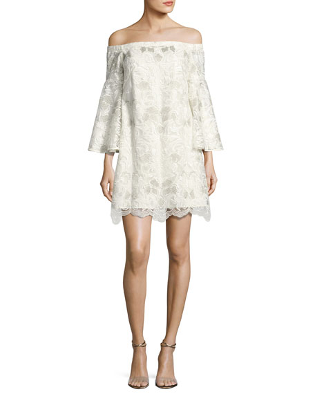 Mestiza New York Pia Off-the-Shoulder Floral Lace Cocktail