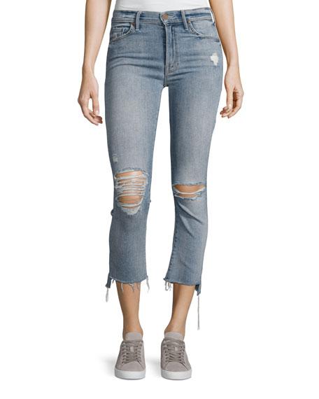 Mother Denim Insider Crop Straight Jeans, Indigo