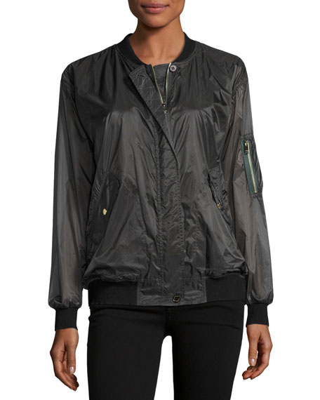 Burberry Lightweight Technical Bomber Rain Jacket