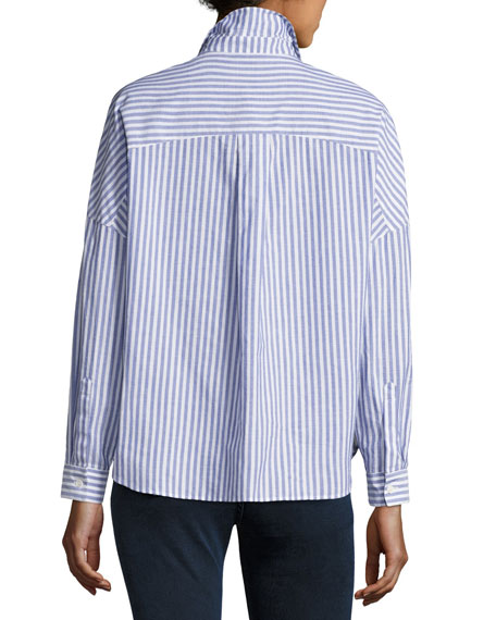 Posy Striped Boyfriend Shirt