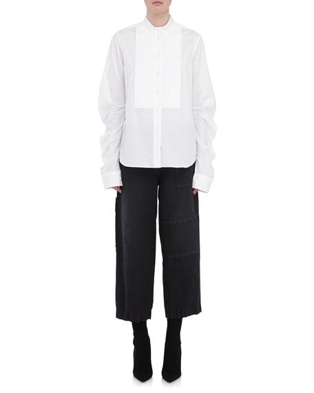 Stretch-Cotton Shirt w/ Bib