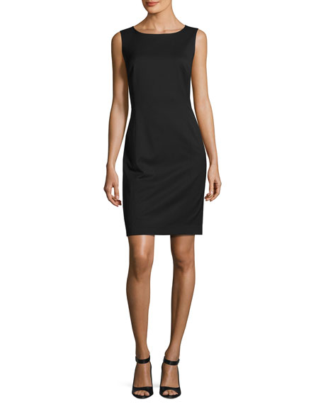 Carol Sleeveless Stretch-Wool Sheath Dress