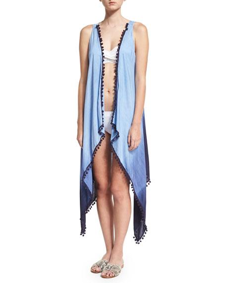 Ella Moss Swim Tribal Romance Ombre-Printed Coverup, Blue