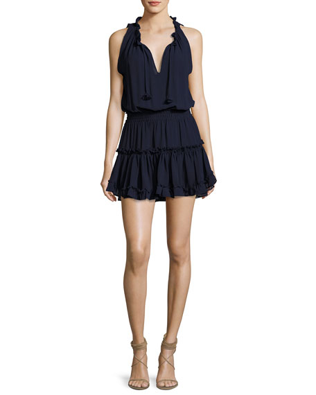 MISA Los Angeles Shirley Sleeveless Ruffled Mini Dress,