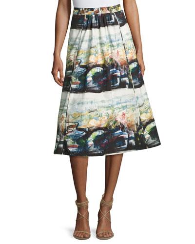 Kinsale Printed Full Midi Skirt