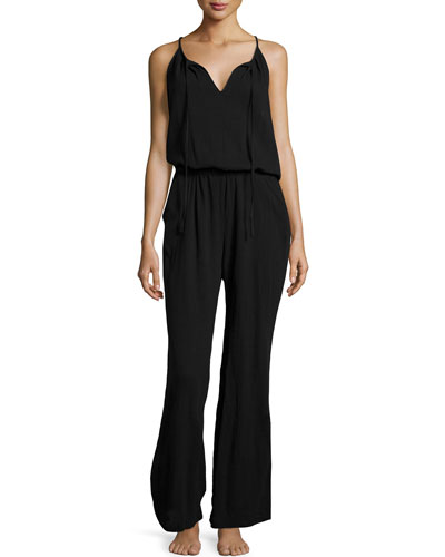 Sleeveless Gauze Lounge Jumpsuit