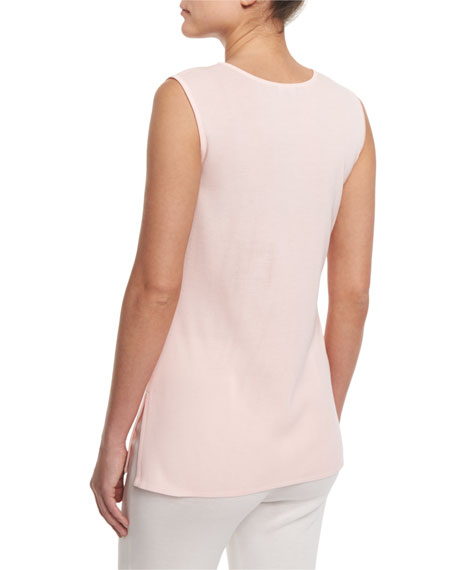 Round-Neck Soft Tank, Rose Water