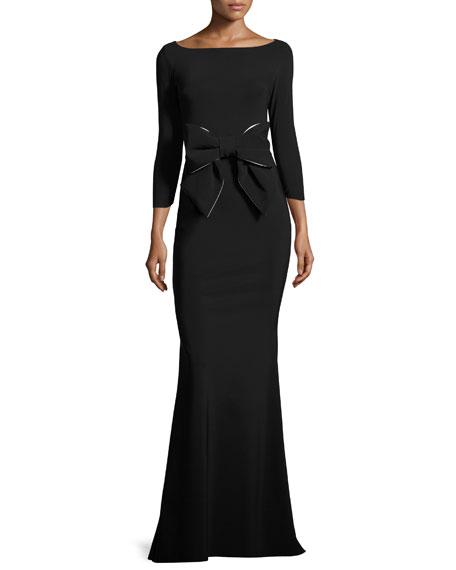 Chiara Boni La Petite Robe Brest 3/4-Sleeve Stretch