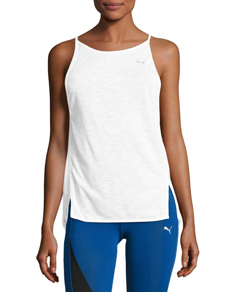 Puma Dancer Drapey Performance Tank Top, White