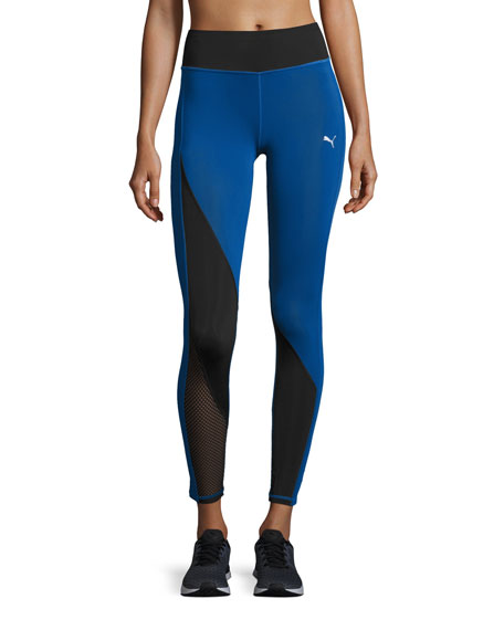 Puma Explosive High-waist Performance Tights, Blue/Black