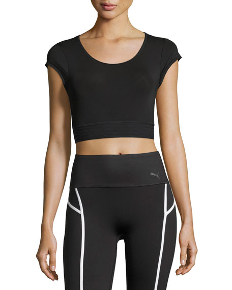 black puma crop top