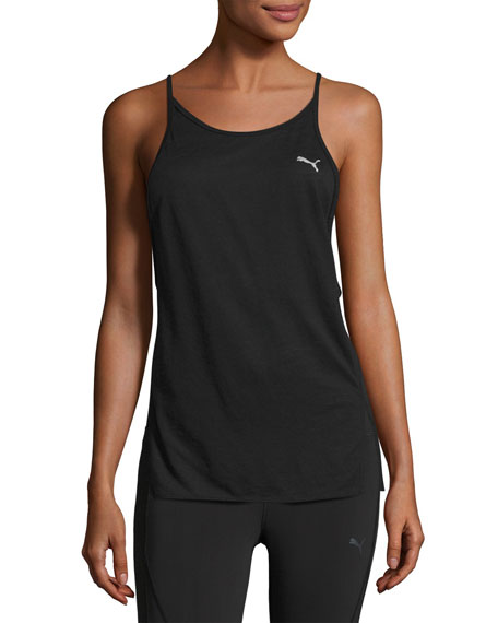 Puma Dancer Draped Performance Tank Top, Black