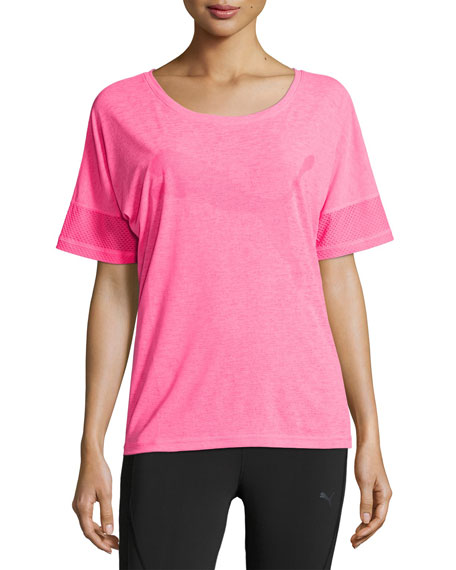 Puma Loose Athletic T-Shirt, Knockout Pink