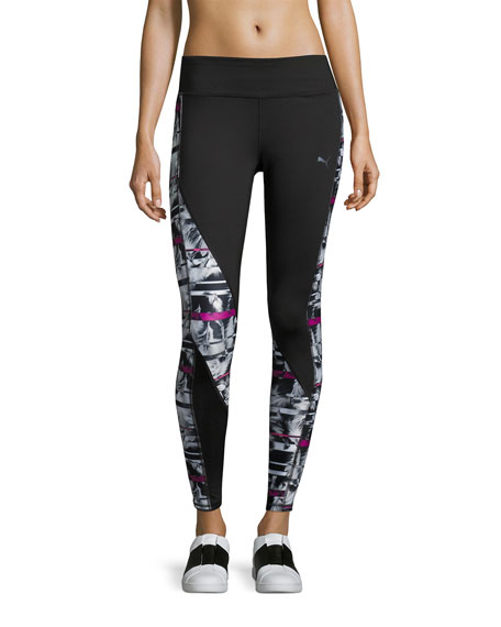 Puma Clash Performance Tights Leggings, Multipattern