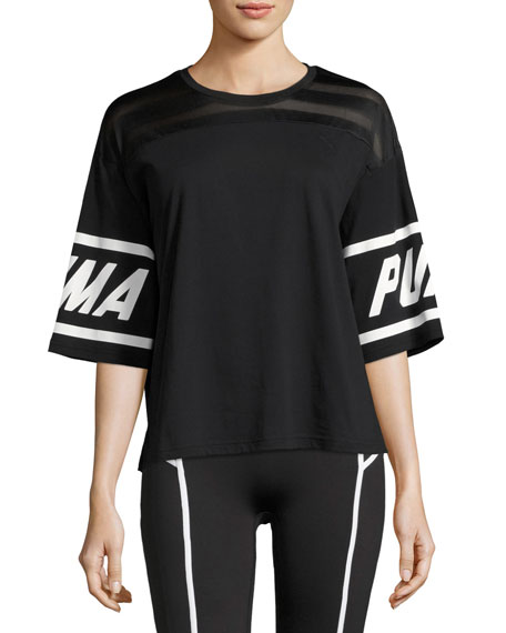 Puma Burnout Athletic T-Shirt, Black