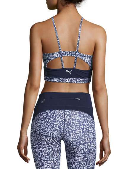 Culture Surf Active Training Crop Top, Blue/White